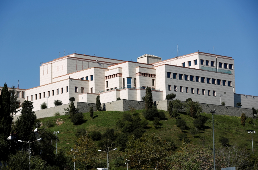 US Consulate in Istanbul, Oct. 11, 2017.