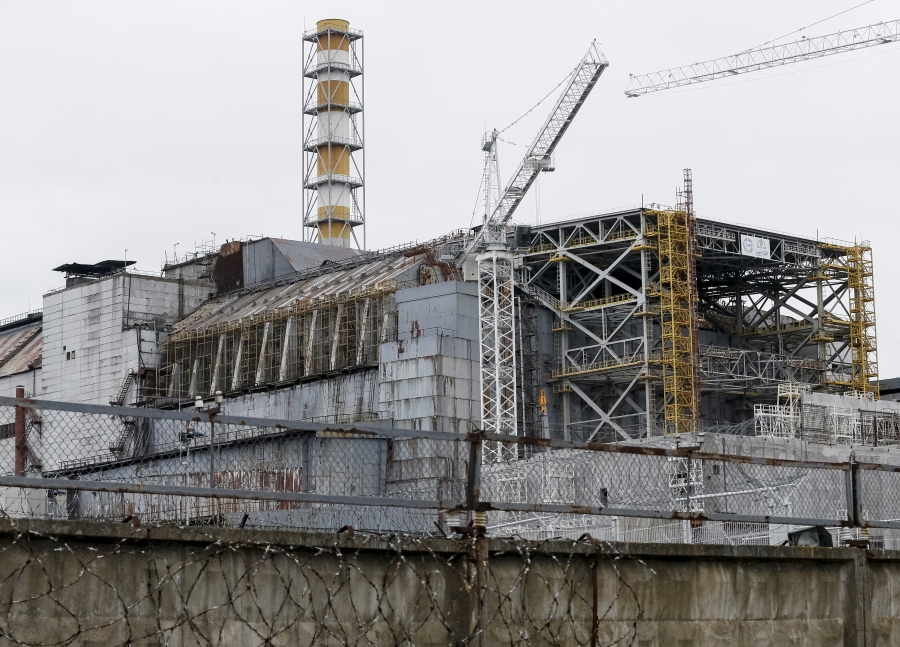 30 years after the world's worst civilian nuclear accident, a $2.25 billion sarcophagus is being built to contain the damaged Chernobyl reactor so the cleanup can finally begin.