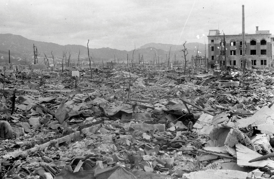 the devastation of the atomic bomb The atomic bombings of hiroshima and nagasaki by the manhattan engineer total destruction spread over an area of about 3 square nagasaki atomic bomb museum.