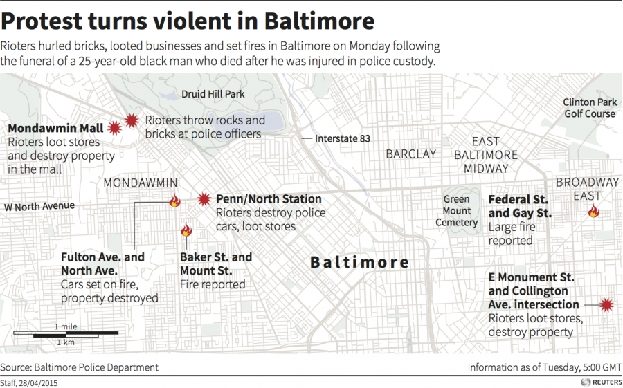 Baltimore riots graphic