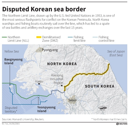 A Brief History Of Border Conflict Between North And South Korea - Us north south map