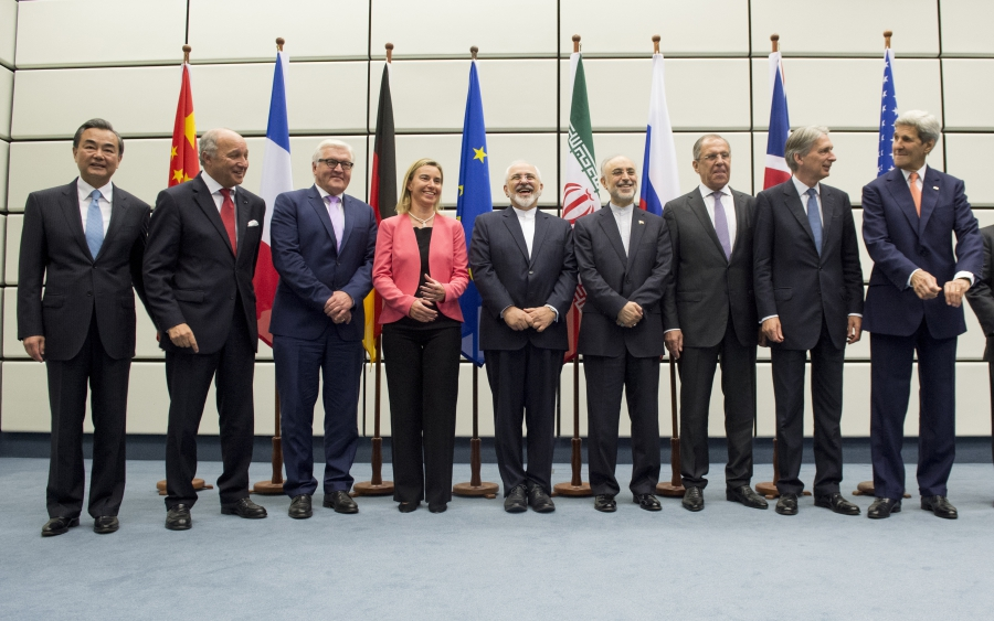 Members of the negotiations team in Vienna, Austria.
