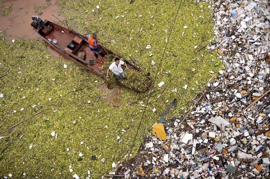 Yangtze river garbage