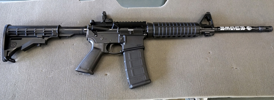 Ruger AR-15 rifle is seen for sale at the Pony Express Firearms shop in Parker, Colorado December 7, 2015. Gun retailers are reporting surging sales, with customers saying they want to keep handguns and rifles at hand for self-defense.