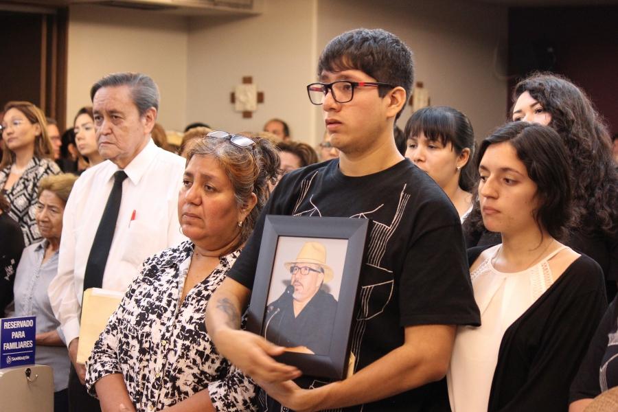 Valdez family at memorial