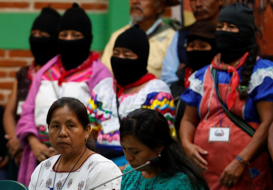 María de Jesús Patricio, left, the new candidate representing the Zapatista National Liberation Army in Mexico