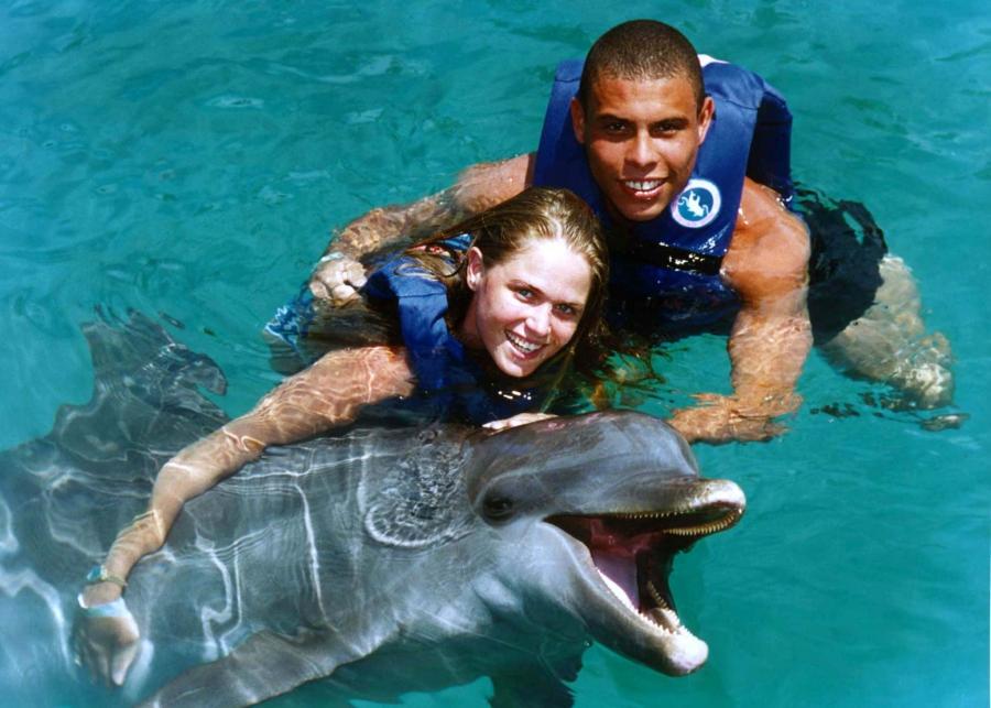 Ronaldo with dolphin