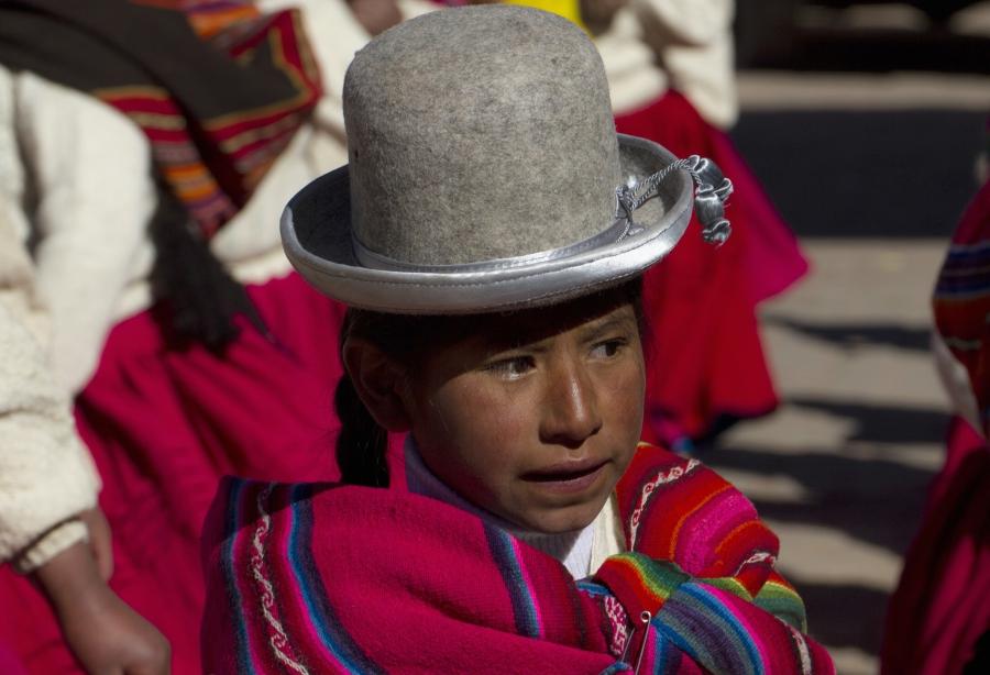 An Aymara girl in Tiwanaku, in 2012.