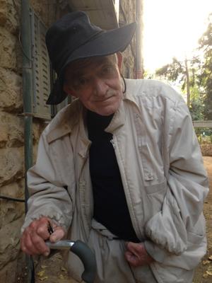 Rami Yizraeli in his Jerusalem neighborhood.