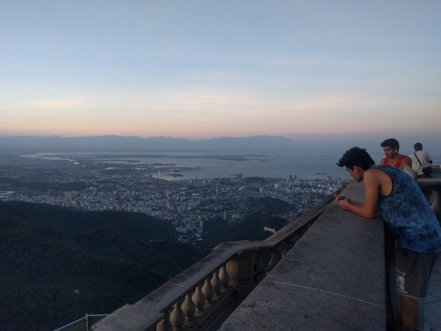 Looking out at Rio de Janeiro