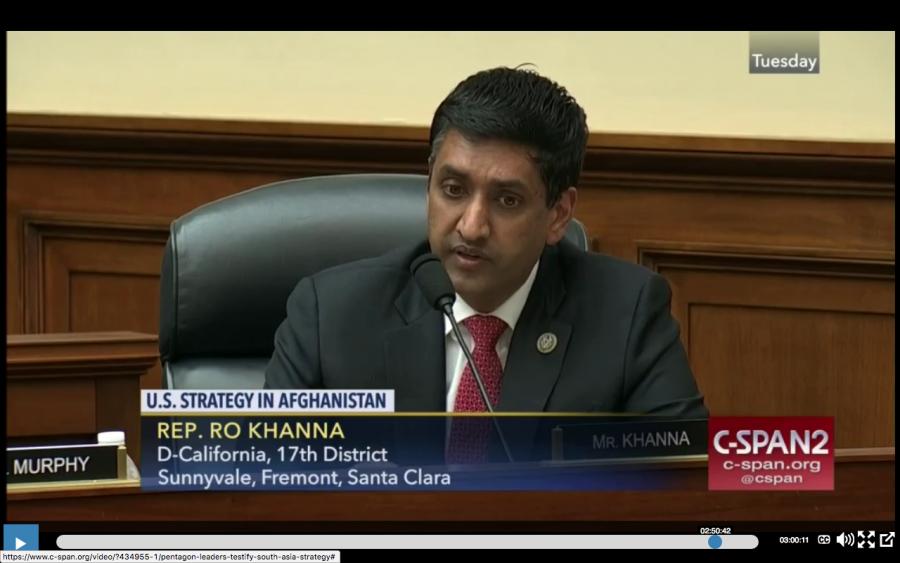 Representative Ro Khanna (D-CA)
