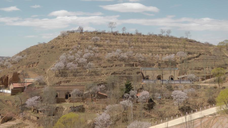 Terraced hillside near Pengyang