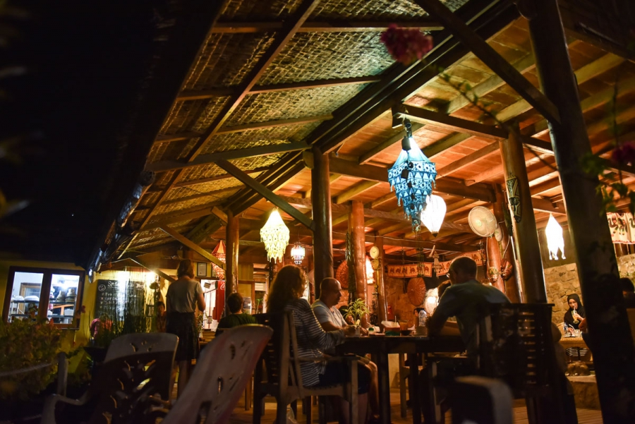 Locals and tourists dine at Casa Nemo Resort and Spa.