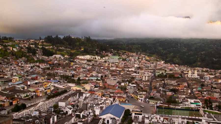 The city of Guaranda, Ecuador, the capital of the mountainous Bolivar Province.
