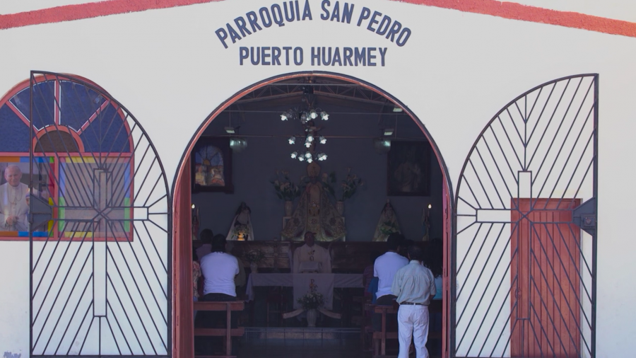The church where Father Paul Madden celebrates Mass, in Puerto Huarmey, Peru. Father Madden admitted to molesting a 13-year-old boy, and told GlobalPost he could never again work in the US.
