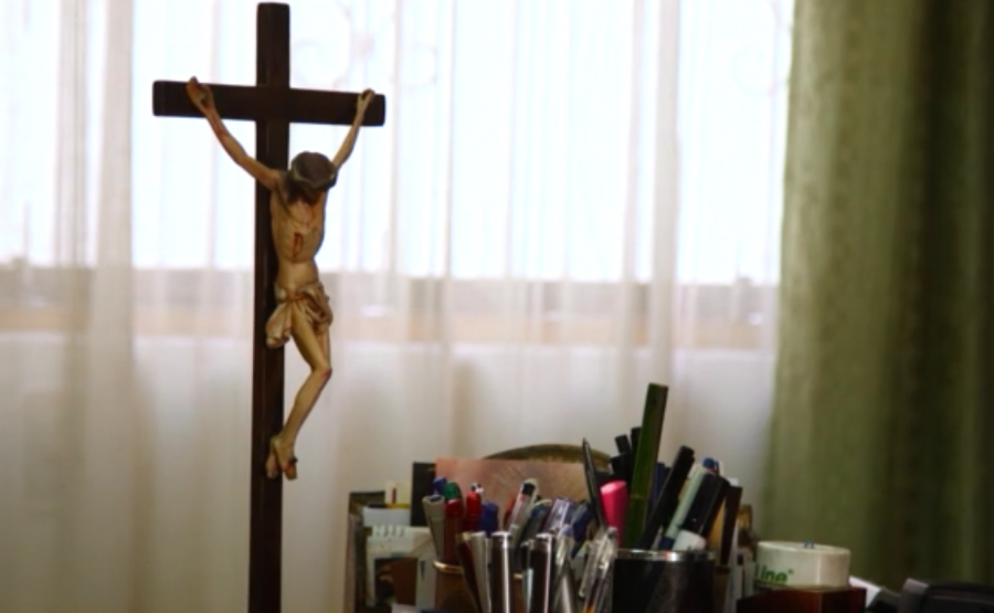 Inside the office of Vicar General Juan Roger Rodriguez Ruiz, the one diocese leader who agreed to an interview.