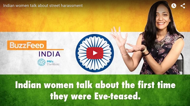 Street harassment is a big problem in India