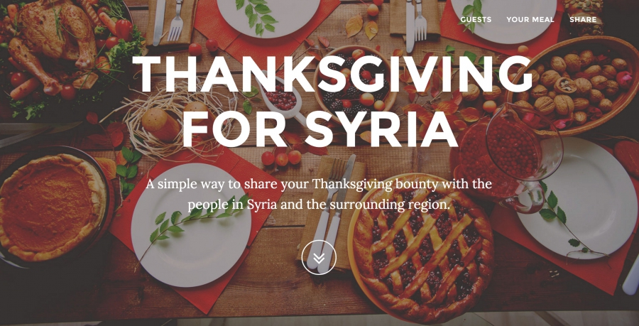 A screenshot from Thanksgiving for Syria.
