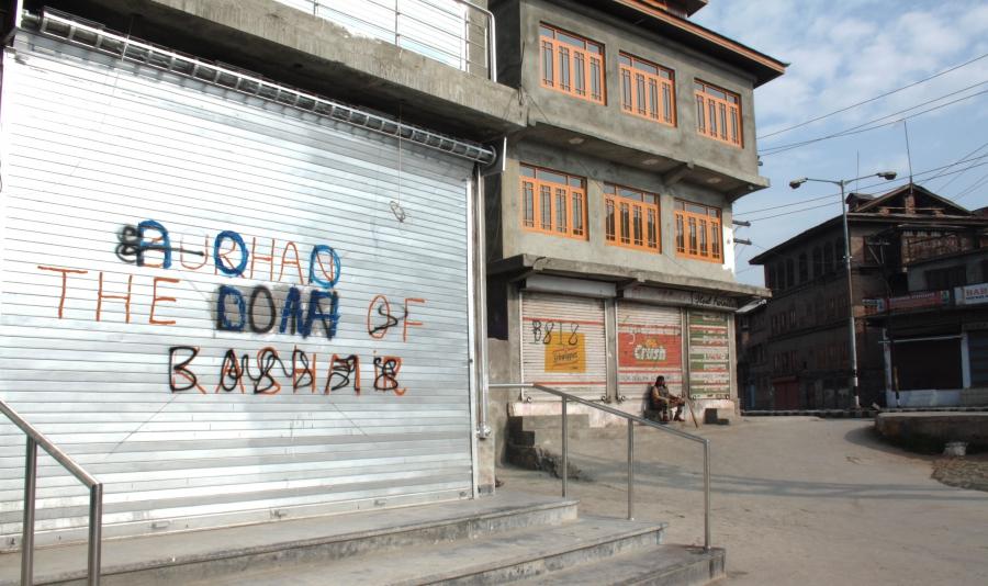 CRPF graffiti Kashmir