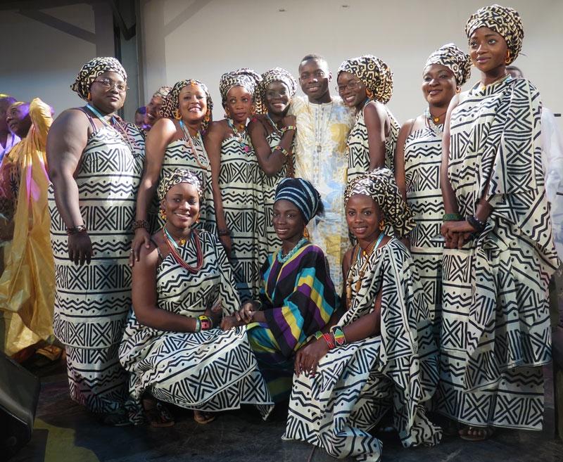 """Sidiki ladies"" at the Festival Acoustik de Bamako."