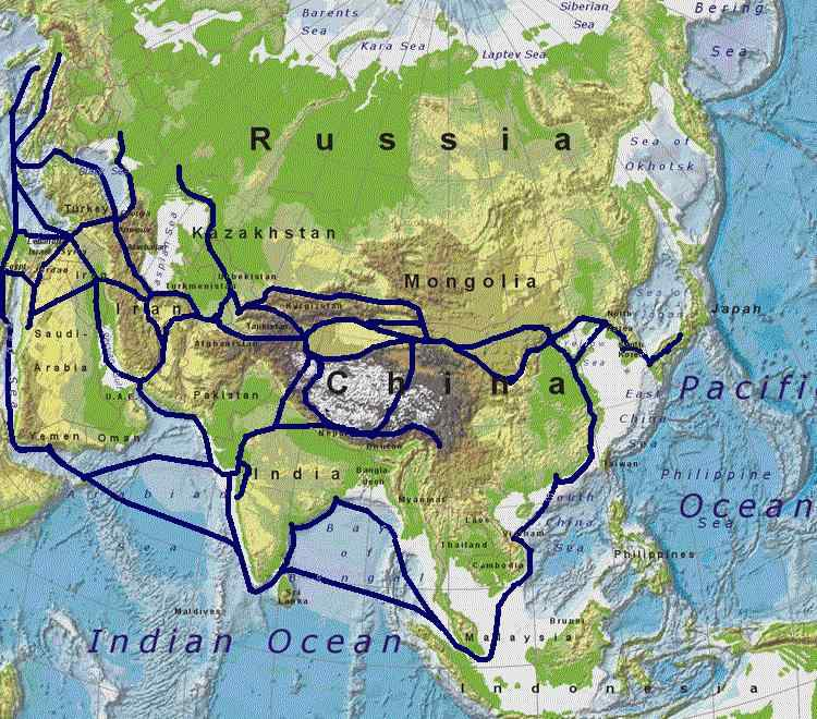 The Silk Road connected many civilizations across Asia and Europe.