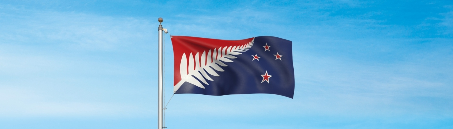 Silver Fern: Red, White, Blue