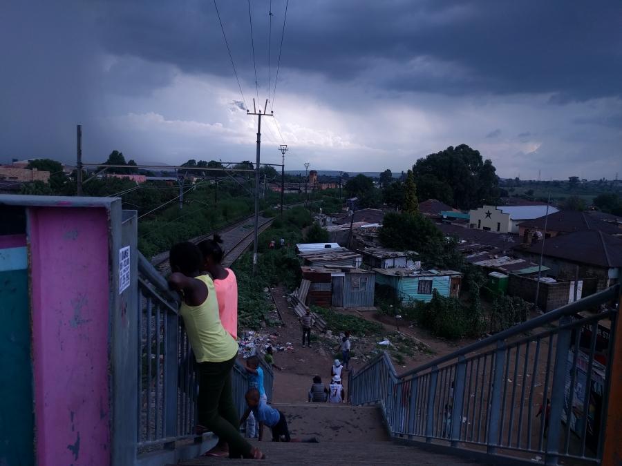 Scene in Soweto, Johannesburg, South Africa