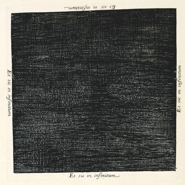 Robert Fludd's depiction of a black void prior to the light of creation