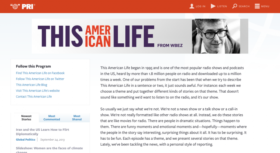 This Amer Life program at launch