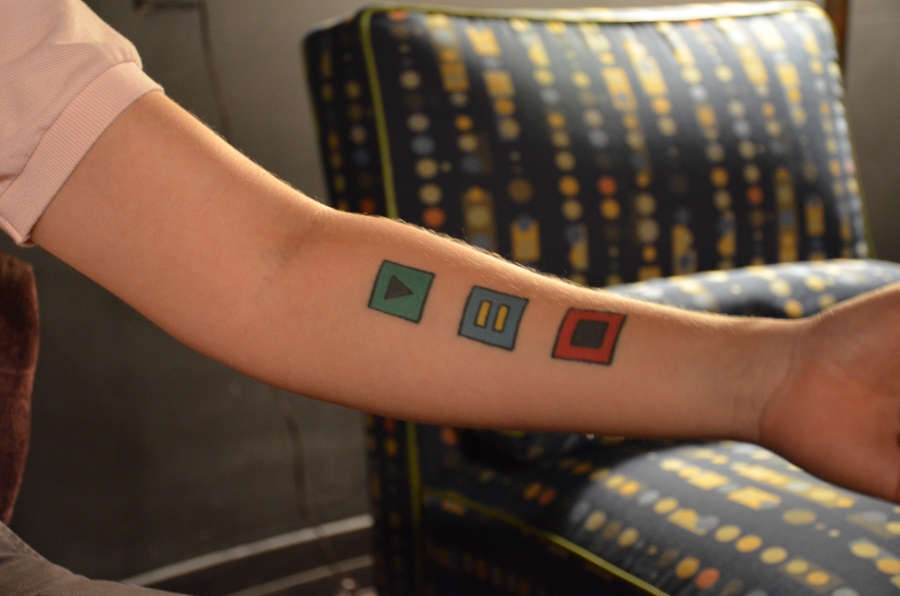 AJ has a tattoo of the equality symbol on her arm, something she wouldn't be able to show openly back in Saudi Arabia.