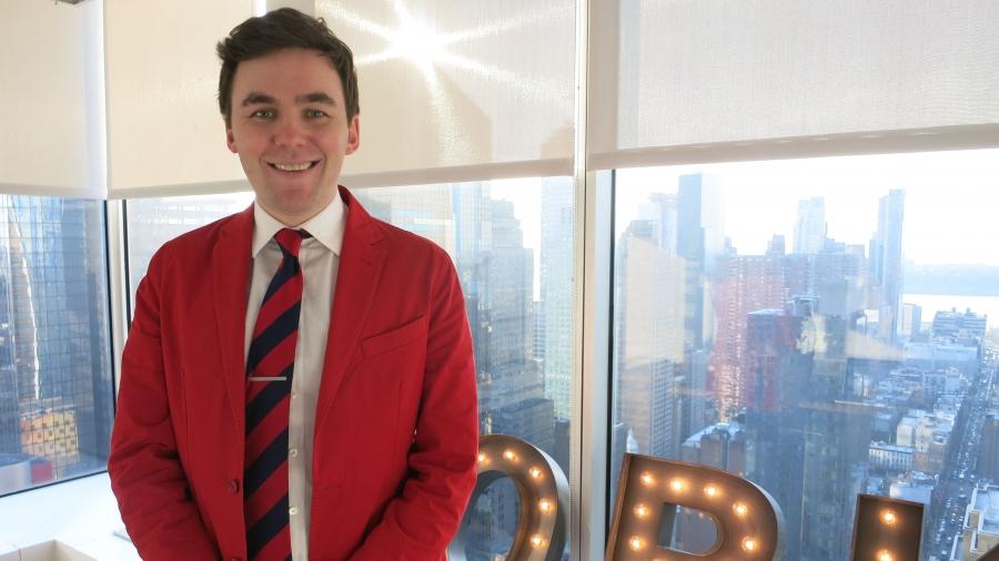 Men's fashion entrepreneur Tom Cridland.