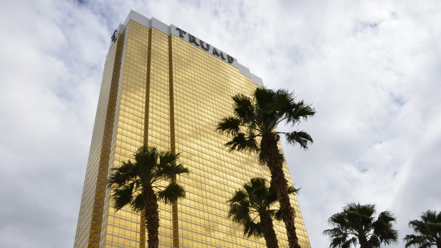The 64-story Trump International Hotel sits near the northern edge of the Las Vegas Strip.