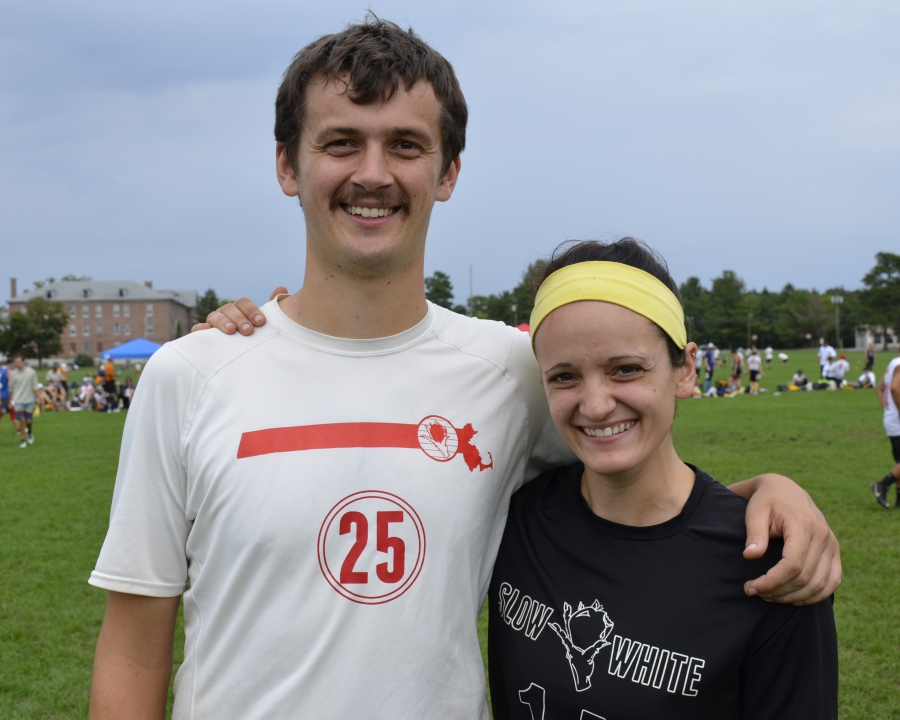 Boston Slow White co-captains Alex Trahey and Hannah Baranes.