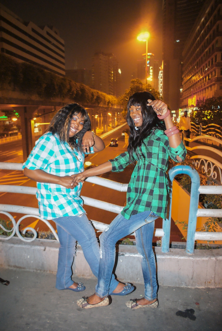 Two women in checkered shirts. February 8, 2011