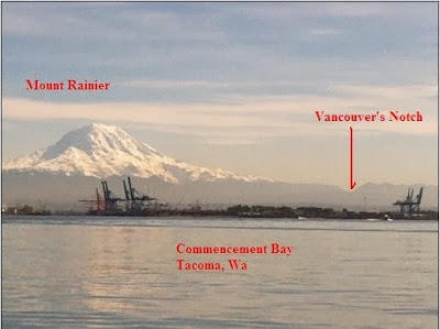 A image of Vancouver Notch that Barbara Reid marked up and submitted with the naming application.
