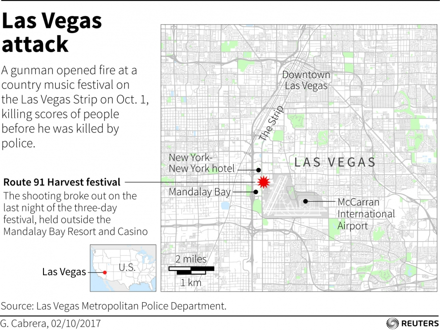 The Oct. 1 Las Vegas shooting mapped out.