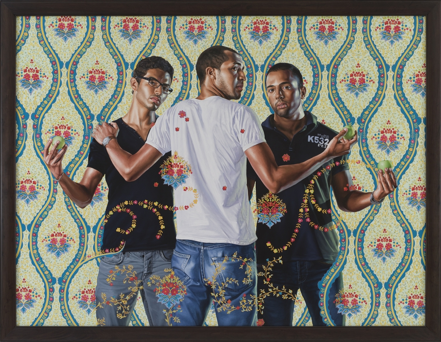 The Three Graces, oil on canvas by Kehinde Wiley, 2012