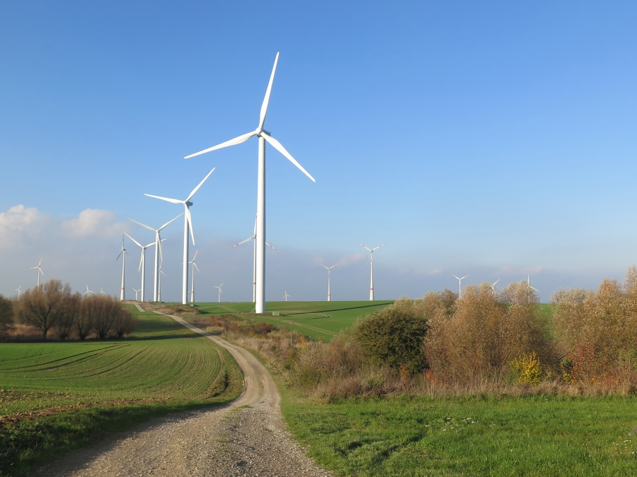 One of the big challenges of Germany's energiewende--its transition from traditional energy sources to renewables--is how to manage the intermittent flow of electricity from solar panels and wind turbines, like these in Prenzlau, in the northern part of t
