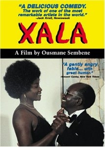 "DVD cover of the 1975 Senegalese film ""Xala!"" by Ousmene Sembene."