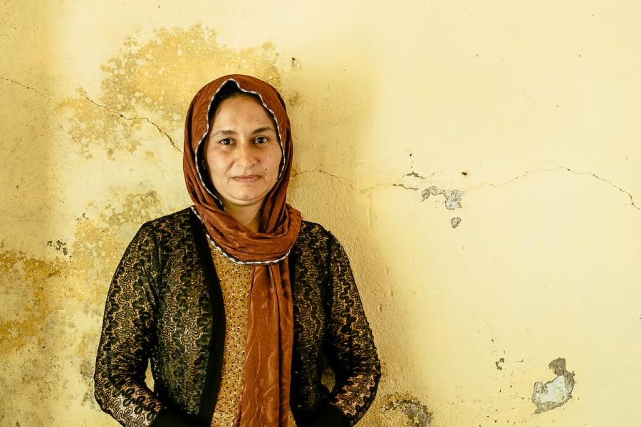 Ghazal Naser Khalaf, a 37-year-old Yazidi.