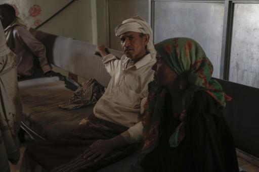 Patients await treatment at a dialysis center in Hudeidah. They could be waiting for days or even weeks. The center lacks electricity and faces other problems as a result of the war. With each day, the toxins in their bodies grow. They are slowly dying.