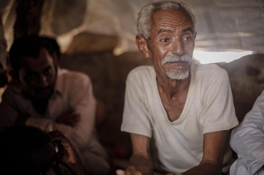 Ali Abdullah, 60, and his family have been displaced multiple times due to the Saudi-led airstrikes. He has lived through airstrikes, artillery fire and cluster bombs. His son was not so lucky.