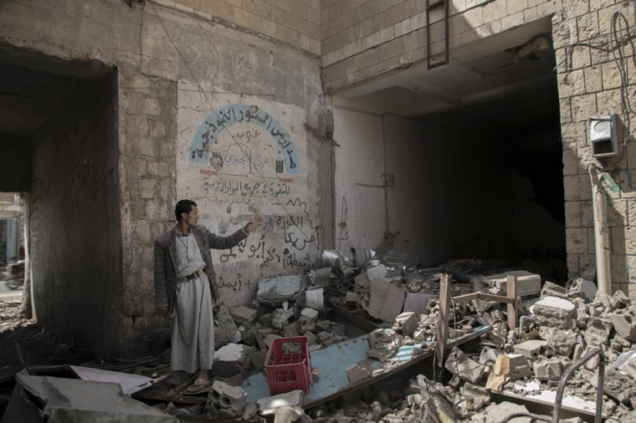 An airstrike destroyed one of the central markets in Saada, costing hundreds of livelihoods.
