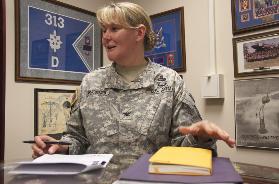 Col. Jennifer Buckner commands the US Army's newly established Cyber School at Fort Gordon, Georgia.