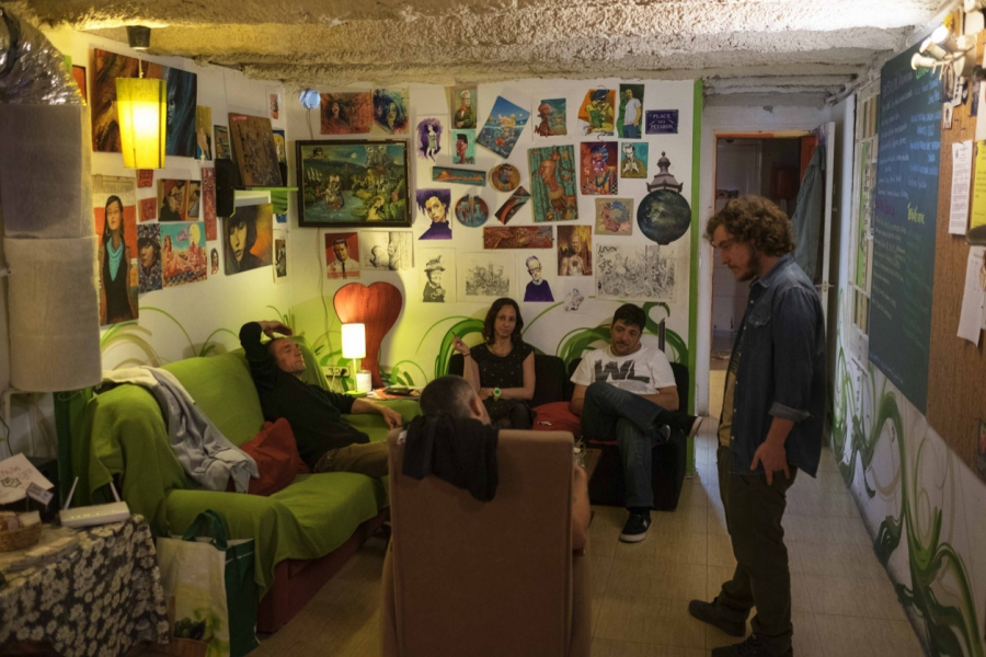 Barcelona cannabis club like a living room