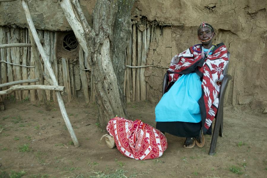 Maasai woman ath the Twala Cultural Manyatta in Laikipia, Kenya
