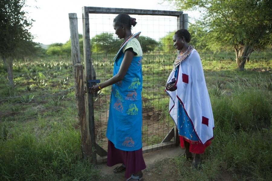 Maasai women at the Twala Cultural Manyatta in Laikipia, Kenya