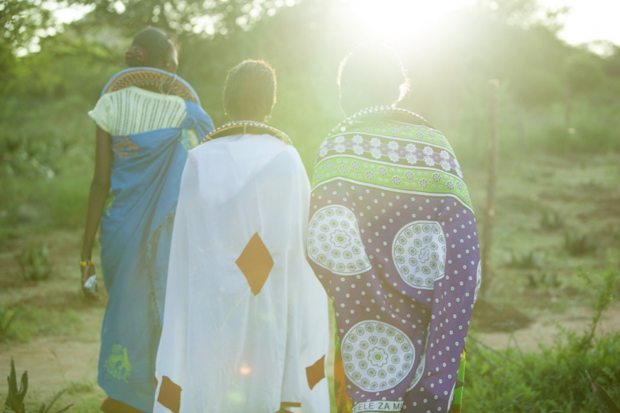 Some of the Maasai women working at Twala Cultural Manyatta