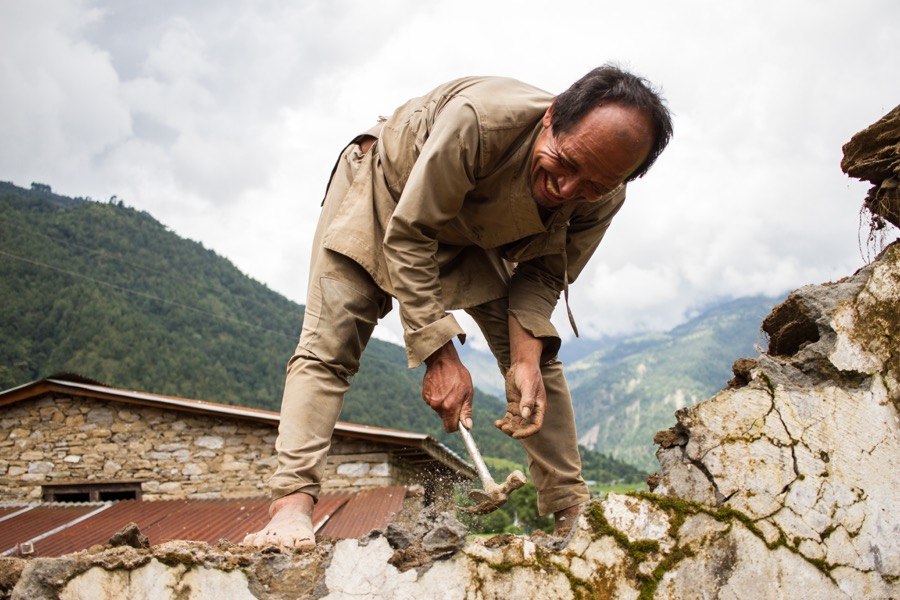 Rebuilding after Nepal's 2015 earthquake has only just begun in Sindupalchok District.