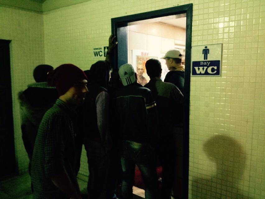 The restroom facilities that refugees can access are pay-to-enter and there aren't enough to accommodate everyone.